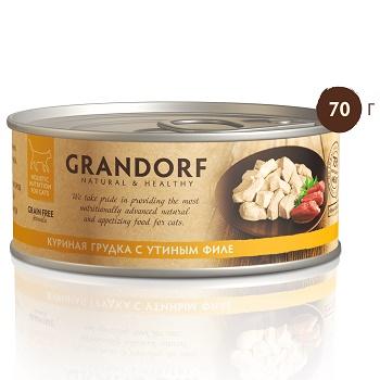 Grandorf консервы для кошек Куриная грудка с утиным филе