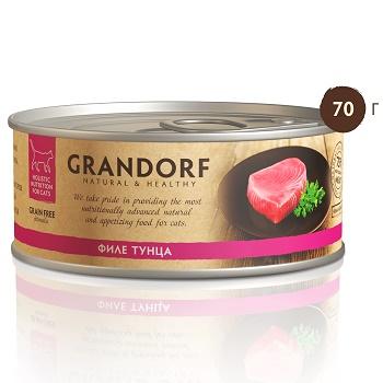 Grandorf консервы для кошек Филе тунца