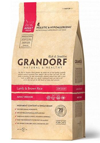 Grandorf Indoor Lamb & Rice сухой корм для взрослых кошек