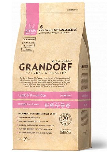 Grandorf Kitten Lamb & Rice сухой корм для котят