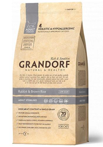 Grandorf Sterilized Rabbit & Rice сухой корм для взрослых стерилизованных кошек