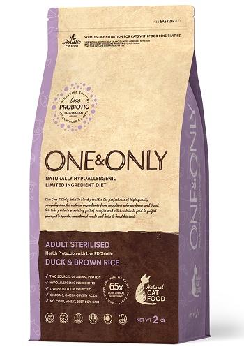 One & Only Sterilised сухой корм для стерилизованных кошек с уткой