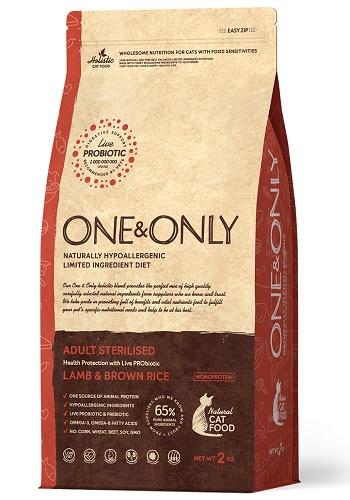One & Only Sterilised сухой корм для стерилизованных кошек с ягненком