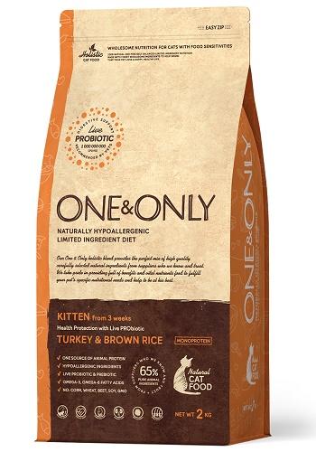 One & Only Kitten сухой корм для котят с индейкой