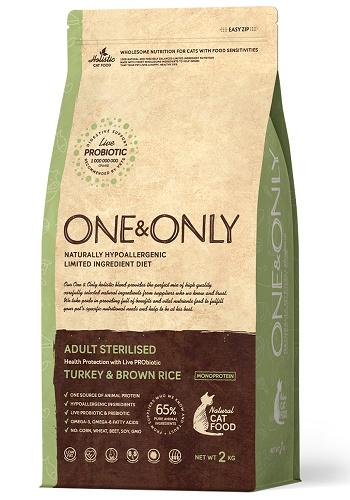 One & Only Sterilised сухой корм для стерилизованных кошек с индейкой