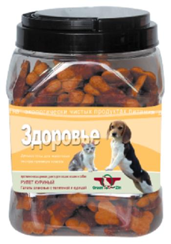 GreenQZin лакомство для собак Здоровье с телятиной и курицей