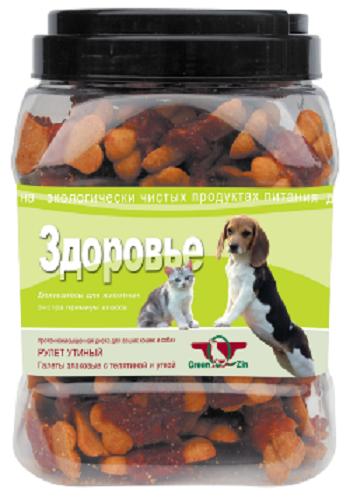 GreenQZin лакомство для собак Здоровье с телятиной и уткой