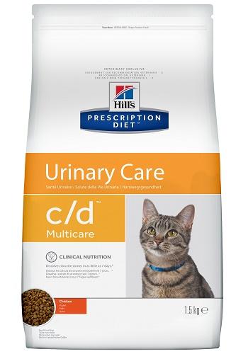 Hill's Prescription Diet C/D Multicare Urinary Care сухой корм для кошек при МКБ с курицей