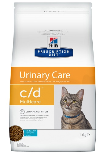 Hill's Prescription Diet C/D Multicare Urinary Care сухой корм для кошек при МКБ с рыбой