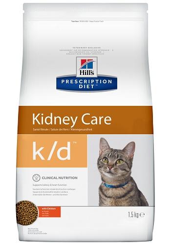 Hill's Prescription Diet K/D Kidney Care сухой корм для кошек при почечной недостаточности