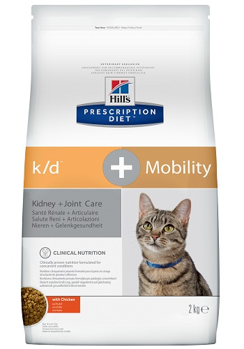 Hill's Prescription Diet K/D+Mobility Kidney+Joint Care сухой корм для кошек при почечной недостаточности