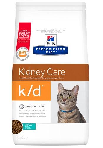 Hill's Prescription Diet K/D Kidney Care сухой корм для кошек при почечной недостаточности с тунцом