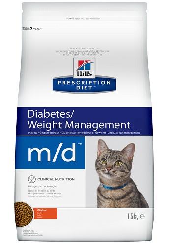Hill's Prescription Diet M/D Diabetes/Weight Management сухой корм для кошек при сахарном диабете