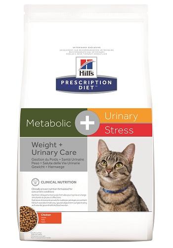 Hill's Prescription Diet Metabolic+Urinary Stress сухой корм для кошек при ожирении и МКБ