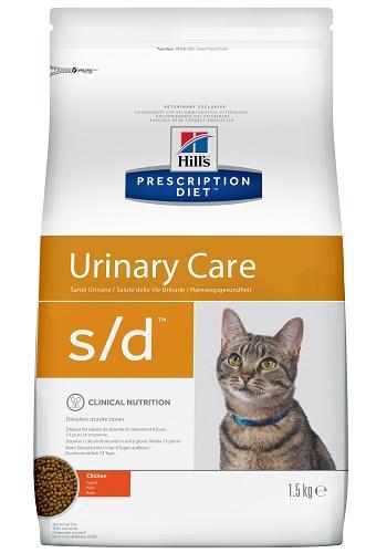Hill's Prescription Diet S/D Urinary Care сухой корм для кошек для растворения струвитов