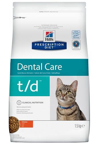 Hill's Prescription Diet T/D Dental Care сухой корм для кошек для здоровья полости рта