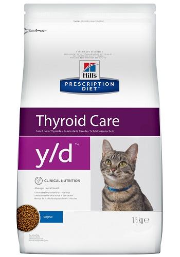 Hill's Prescription Diet Y/D Thyroid Care сухой корм для кошек при гипертиреозе