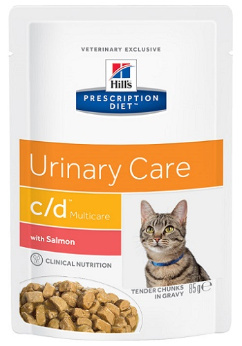 Hill's Prescription Diet C/D Multicare Urinary Care влажный корм для кошек при МКБ с лососем