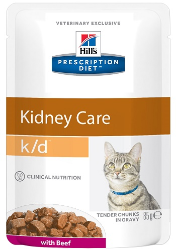 Hill's Prescription Diet K/D Kidney Care влажный корм для кошек c заболеваниями почек с говядиной