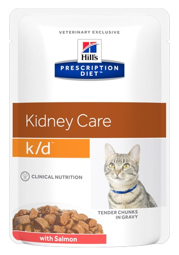 Hill's Prescription Diet K/D Kidney Care влажный корм для кошек c заболеваниями почек с лососем