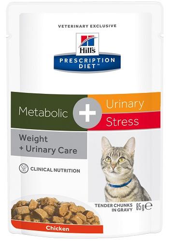 Hill's Prescription Diet MetabolicUrinary Stress влажный корм для кошек при ожирении и МКБ