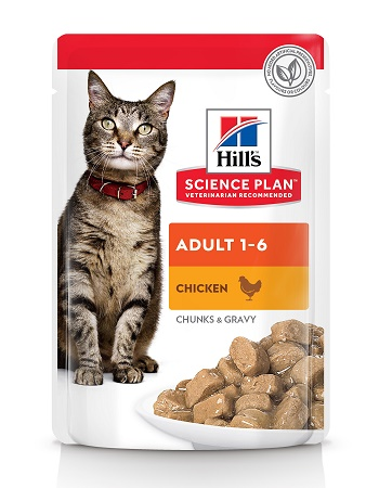 Hill's Science Plan Adult влажный корм для кошек с курицей