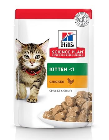 Hill's Science Plan Kitten влажный корм для котят с курицей