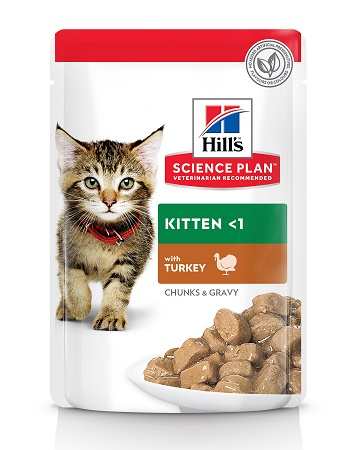 Hill's Science Plan Kitten влажный корм для котят с индейкой