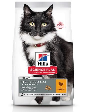 Hill's Science Plan Sterilised Cat сухой корм для стерилизованных кошек старше 7-ми лет