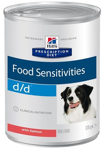 Hill's Prescription Diet D/D Food Sensitivities влажный корм для собак при пищевой аллергии с лососем