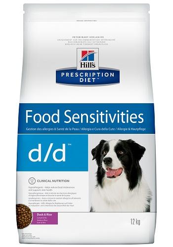 Hill's Prescription Diet D/D Food Sensitivities сухой корм для собак при пищевой аллергии с уткой