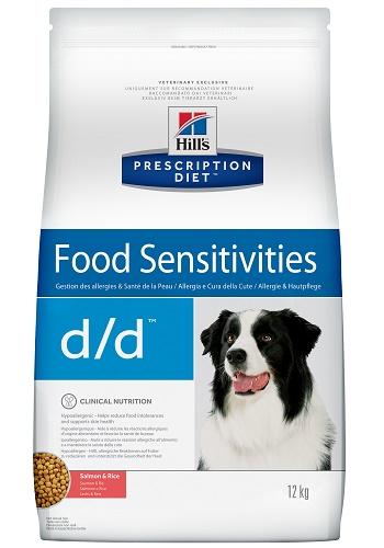 Hill's Prescription Diet D/D Food Sensitivities сухой корм для собак при пищевой аллергии с лососем