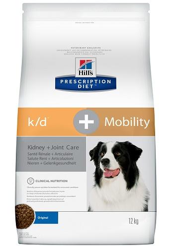 Hill's Prescription Diet K/D+Mobility Kidney+Joint Care сухой корм для собак при заболеваниях почек