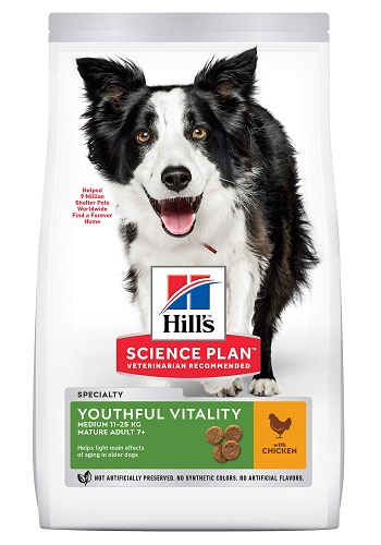 Hill's Science Plan Senior Vitality сухой корм для пожилых собак средних пород