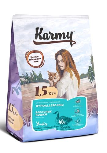 Karmy Hypoallergenic сухой корм для кошек гипоаллергенный с уткой