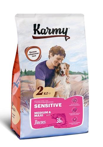 Karmy Sensitive Medium&Maxi сухой корм для собак средних и крупных пород с лососем