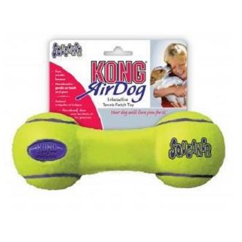 Kong Air игрушка с пищалкой для собак Гантель большая 23 см