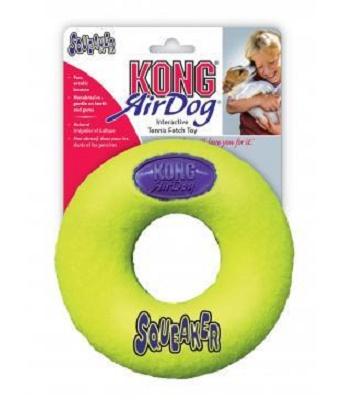 Kong Air игрушка с пищалкой для собак Кольцо среднее 12 см