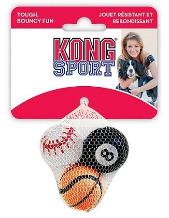 Kong Air Sport игрушка для собак Теннисный мяч маленький 4 см (3 шт.)