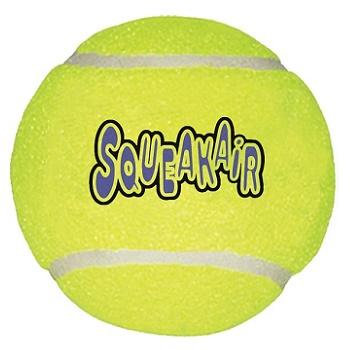Kong Air игрушка с пищалкой для собак Теннисный мяч большой 11 см