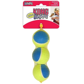 Kong Air Ultra Squeak игрушка для собак Теннисный мяч средний 6 см (3 шт.)