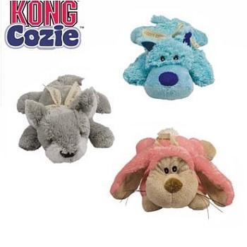 Kong Cozie игрушка с пищалкой плюшевая для собак 13 см