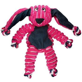 Kong Floppy Knots игрушка плюшевая для собак Кролик 23х14 см