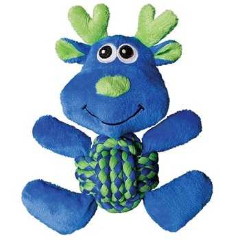 Kong Weave Knots игрушка плюшевая для собак Лось 22х20 см
