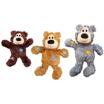Kong Wild Knots игрушка плюшевая для собак с канатом внутри Мишка 10 см