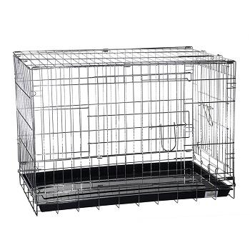 Kredo клетка для собак хромированная 107х69,5х76,5 см (044Chrome)