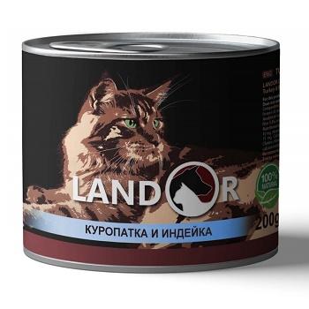 Landor Adult Game & Turkey влажный корм для взрослых кошек с куропаткой и индейкой