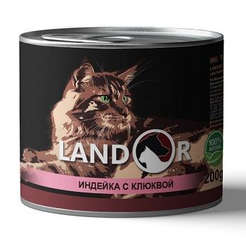 Landor Adult Turkey & Cranberries влажный корм для стерилизованных кошек с индейкой и клюквой