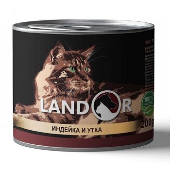 Landor Adult Turkey & Duck влажный корм для взрослых кошек с индейкой и уткой