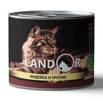 Landor Adult Turkey & Rabbit влажный корм для взрослых кошек с индейкой и кроликом